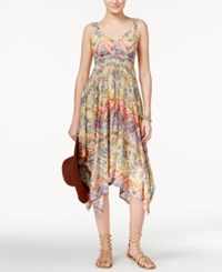 American Rag Printed Handkerchief Hem Maxi Dress Only At Macy's Mali Magic Print
