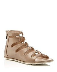 Kenneth Cole Ollie Lace Up Flat Sandals Pietra