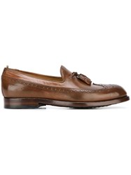 Officine Creative 'Ivy' Brogue Tassel Loafers Brown