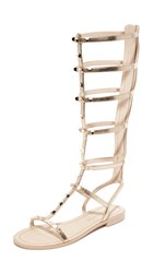 Rebecca Minkoff Giselle Tall Gladiator Sandals Light Gold