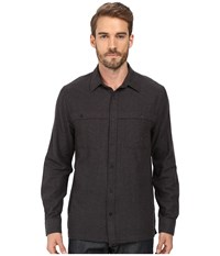 Threads For Thought Long Sleeve Chambray Overshirt Workshirt Black Men's Clothing