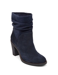 Vince Camuto Parka Suede Slouch Ankle Boots Navy Blue
