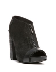 Fergie Rowley Leather Slingback Ankle Boots Black
