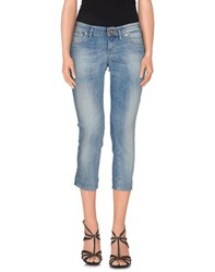 Take Two Denim Denim Capris Women Blue