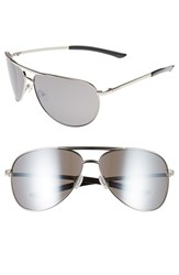 Smith Optics Men's 'Serpico' 66Mm Aviator Sunglasses Silver