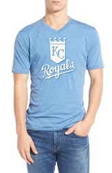 Men's Red Jacket 'Kansas City Royals Calumet' Graphic V Neck T Shirt