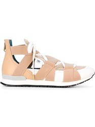 Vionnet Elasticated Band Sneakers Nude And Neutrals