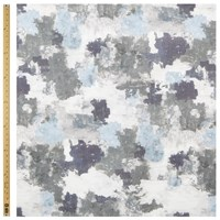 John Lewis Abstract Blurred Print Blue Grey