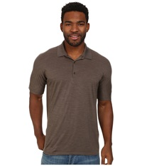 Icebreaker Sphere S S Polo Trail Heather Men's Short Sleeve Pullover Brown