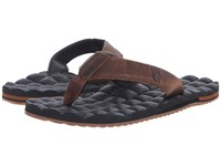 Volcom Recliner Leather Vintage Brown Men's Sandals