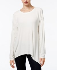 Bar Iii Ribbed Handkerchief Top Only At Macy's Egret