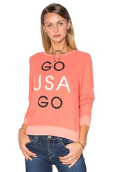 Wildfox Couture Go Team Go Tee Coral