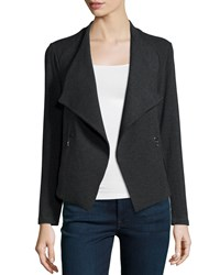 Nm Luxury Essentials French Terry Cardigan Anthracite