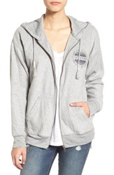 Volcom Women's 'Lived In' Full Zip Hoodie Heather Grey