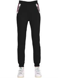 Moschino Logo Trim Cotton Jogging Pants