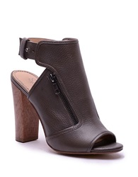 Splendid Janet Open Toe Leather Ankle Booties Brown