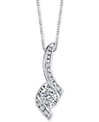 Sirena Diamond Pendant Necklace 3 8 Ct. T.W. In 14K White Gold