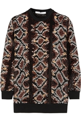 Givenchy Sweater In Python Sequined Silk Chiffon