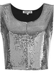Mcq By Alexander Mcqueen Paillettes Crop Top Metallic