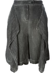 Lost And Found Draped Front Shorts Grey