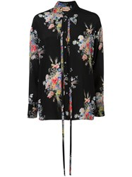 N 21 No21 Floral Print Blouse Black