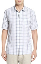 Quiksilver Men's Waterman Collection 'Malindi' Regular Fit Tattersall Camp Shirt