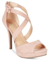 Material Girl Helenah Platform Dress Sandals Only At Macy's Women's Shoes Blush
