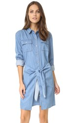 Minkpink Jericho Tie Up Shirtdress Mid Blue