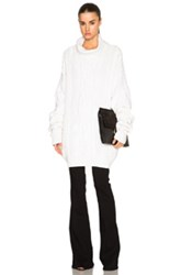 Faith Connexion Twisted Sweater In White