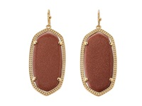 Kendra Scott Elle Earring Gold Orange Goldstone Earring Brown