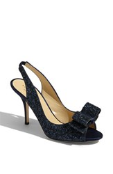 Kate Spade Women's New York 'Charm' Slingback Pump Navy Glitter