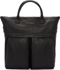 Want Les Essentiels Black Leather O'hare Shopper Tote