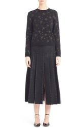 Valentino Women's Embroidered Wool And Cashmere Crewneck Sweater