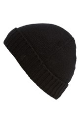 Men's Polo Ralph Lauren Cashmere And Wool Knit Beanie Black Polo Black