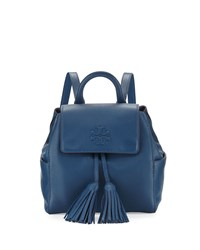 Tory Burch Thea Mini Leather Backpack Navy