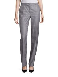 Escada Glen Check Pants Navy