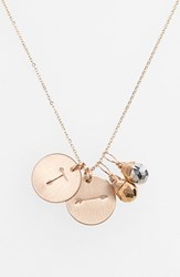 Women's Nashelle Pyrite Initial And Arrow 14K Gold Fill Disc Necklace Gold Pyrite Silver Pyrite T