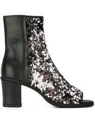 Maison Martin Margiela Mm6 Maison Margiela Sequin Panel Booties Black