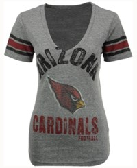 G3 Sports Women's Arizona Cardinals Any Sunday Rhinestone T Shirt Gray
