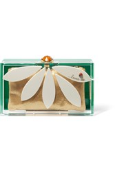 Charlotte Olympia Pandora Loves Me Perspex Clutch Green