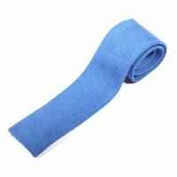 Nick Bronson Plain Knitted Wool Tie Mazurine Blue