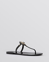 Tory Burch Flat Thong Sandals Mini Miller Jelly Black