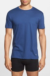 Polo Ralph Lauren Men's Classic Fit 3 Pack Cotton T Shirt Blue Assorted