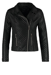 Opus Hillu Faux Leather Jacket Black