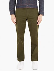 Gosha Rubchinskiy Olive Relaxed Cotton Twill Trousers