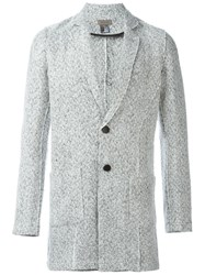 Tony Cohen Double Buttons Tweed Blazer White