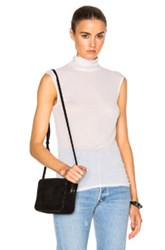 Enza Costa Sleeveless Turtleneck Tee In White