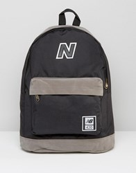 New Balance 420 Backpack In Black Blue