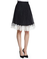 Red Valentino Lace Full Skirt W Contrast Hem Black