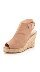 Elysewalker Los Angeles Lesley Peep Toe Espadrille Wedges Dusty